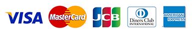 JCB/Visa/MasterCard/AMEX/Diners
